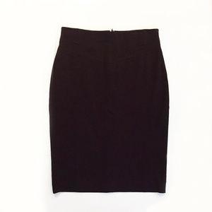 Ann Taylor Deep Plum Pencil Skirt